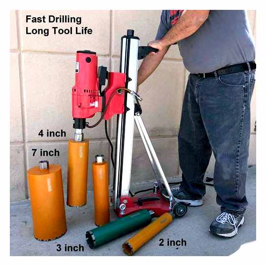 Drilling Holes In Concrete With A Diamond Core Bit