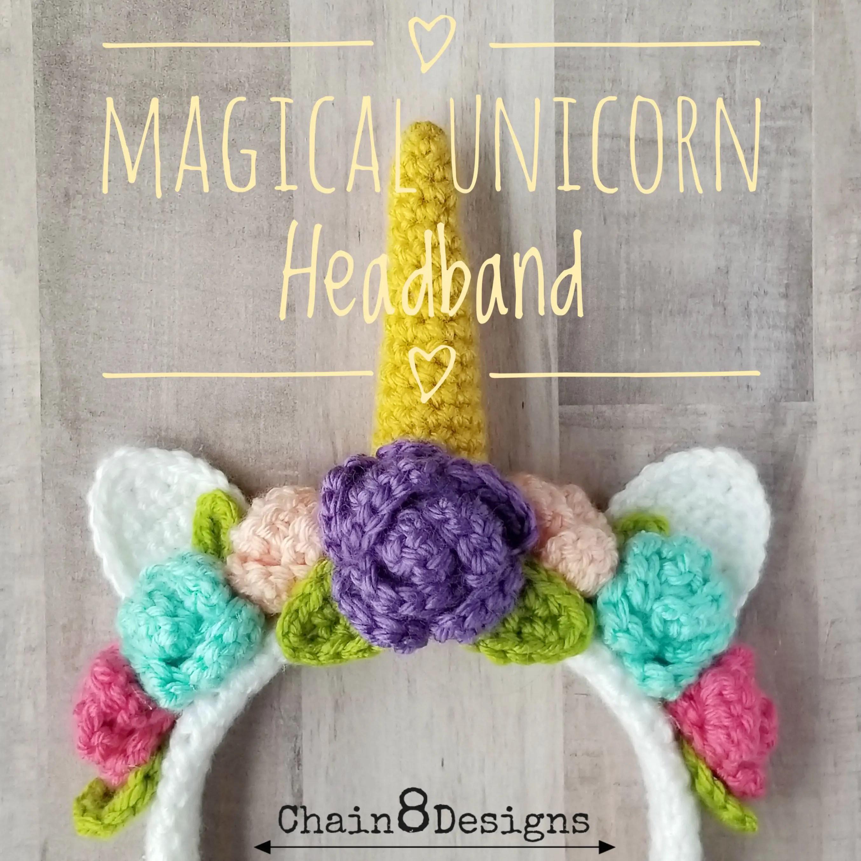 Magical Unicorn Headband Free Crochet Pattern