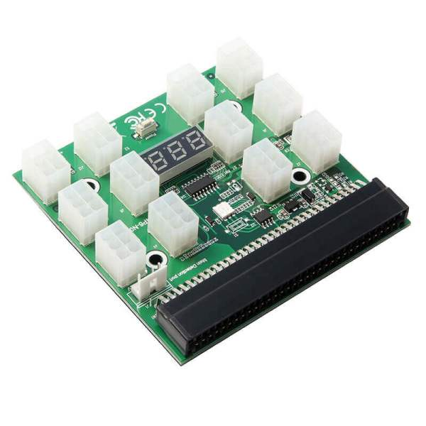 Server Power Supply Breakout Board 12 Port 6-pin