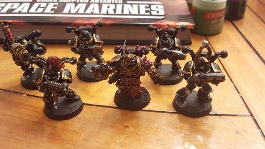 Black Legion squad, trims and details painted