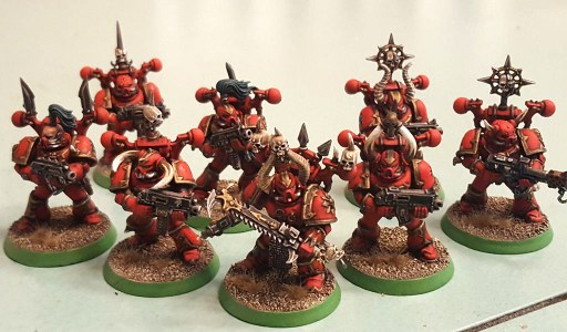 Khorne Daemonkin CSM squad, completed, front