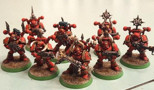 Khorne Daemonkin CSM squad, completed, front