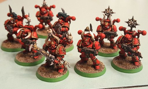 Khorne Daemonkin CSM squad, completed, angle right