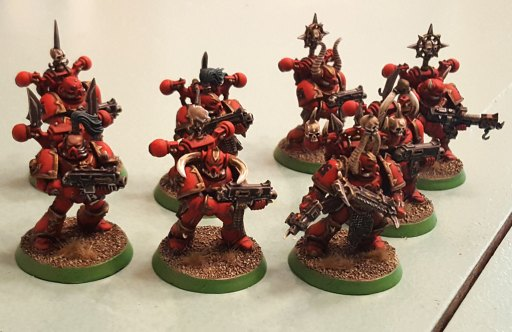 Khorne Daemonkin CSM squad, completed, angle left