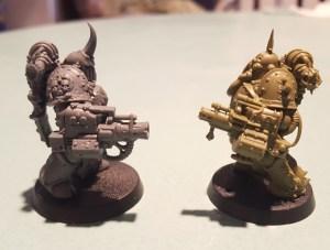 Plague Marines, blight launchers, profile
