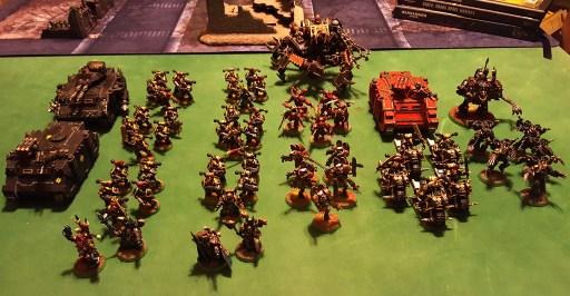 Black Legion army, 2,000 points