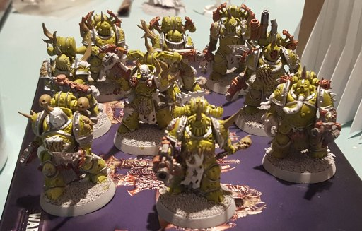 Plague Marines, second squad, base colors