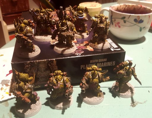 Plague Marines, second squad, halfway done