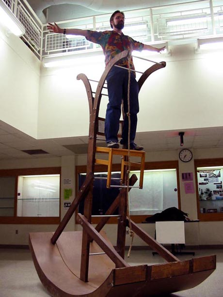 Jacob Williams: Rocking Ladder with Chair Installation 02