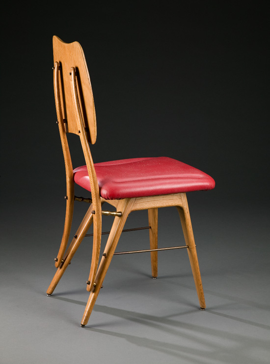 chair from the casa editrice lattes publishing house by carlo mollino,  1953