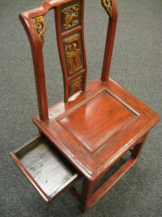 Antique Chinese Wedding Chair 02