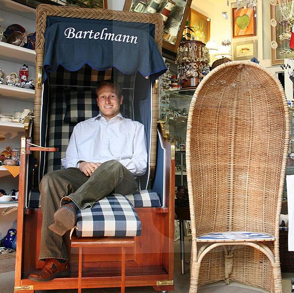 Strandkorb or High Beach Chair by Bartelmann