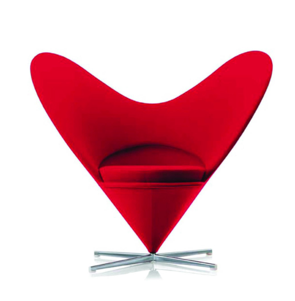 Heart Cone Chair by Verner Panton