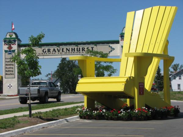 Giant Yellow Muskoka Chair