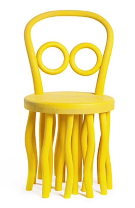 Yellow Octopus Kid's Chair by Katarina Belickova