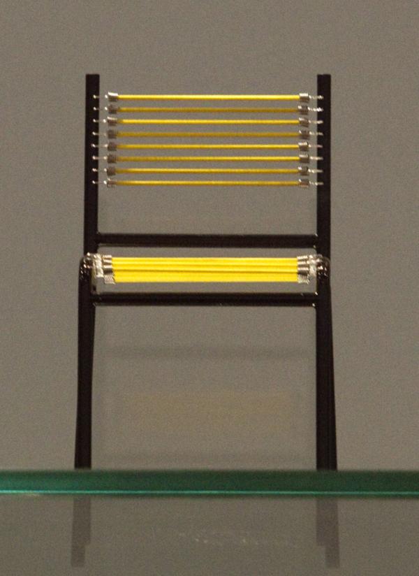 Yellow Mini Sandows Chair by Rene Herbst