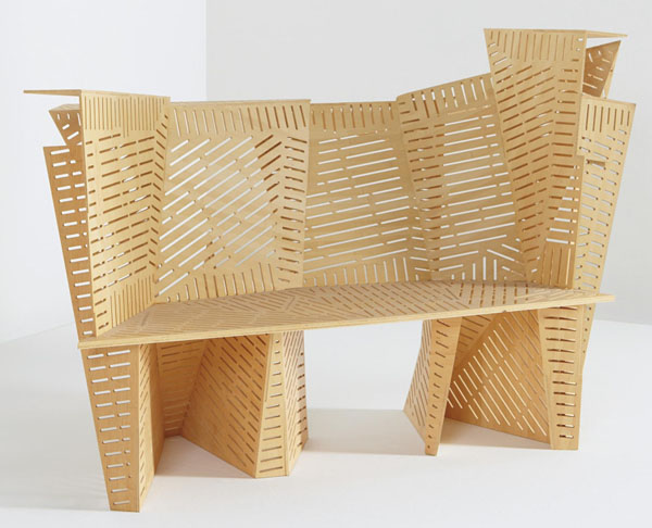 PHILLIPS - UK050214, Steven Holl, Unique prototype 'Porosity Bench' 2014-04-24 23-01-06