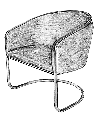 Joan Burgasser Club Tubchair for Thonet USA