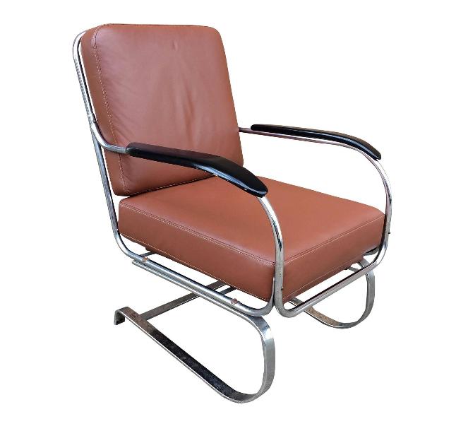 Machine Age Armchair by KEM Weber aside