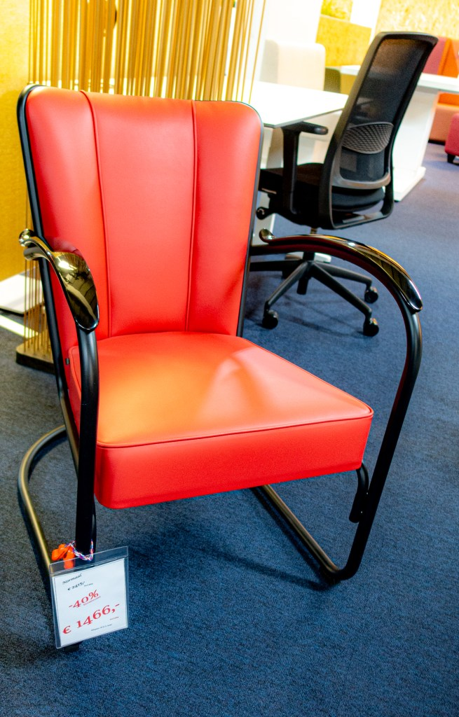 Red W.H. Gispen Chair no 412