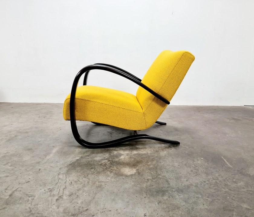 Yellow Lounge Chair by Jindřich Halabala, 1960s