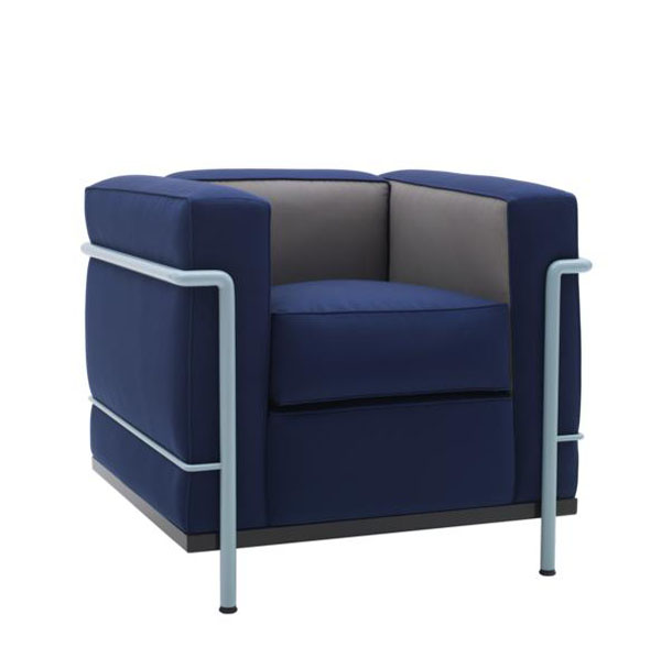 Blue LC2 by Le Corbusier