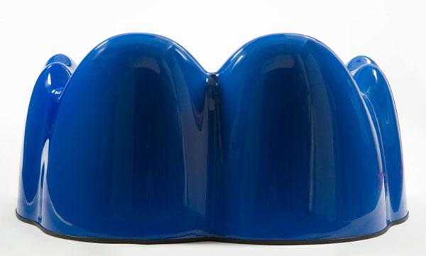 Blue Molar Settee by Wendell Castle Back