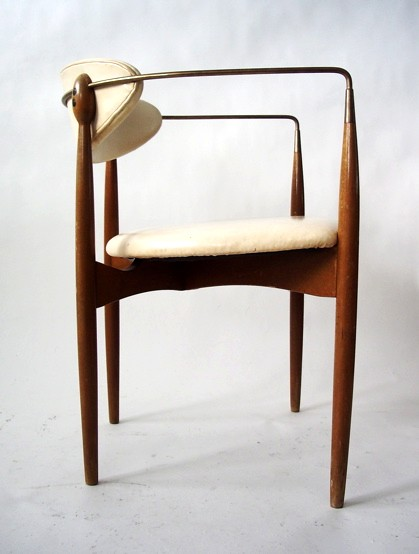 Brass armchair by Ib Kofod-Larsen