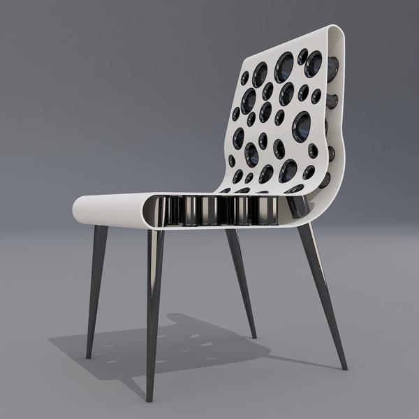 Bubble Point Chair by Svilen Gamolov Side