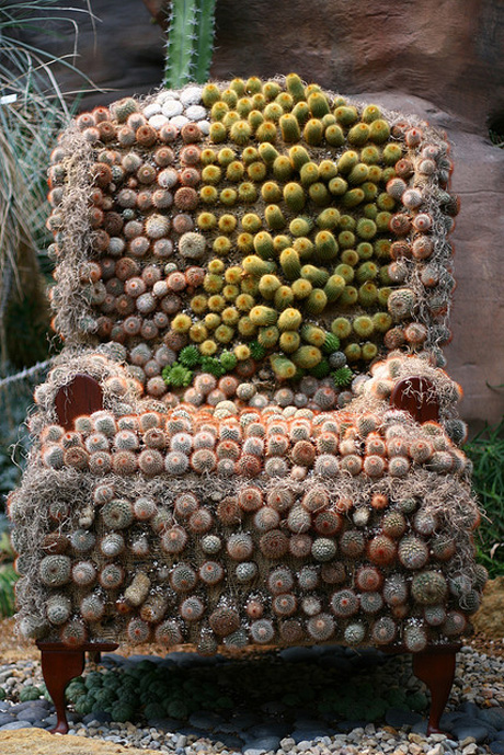 cacti upholstered chair