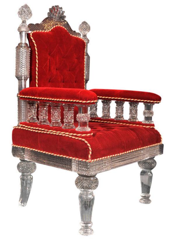 Cut Cristal Arm Chair by F & C Osler