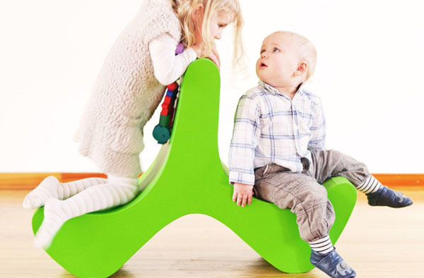 Flip Chair for Kids by Marco Hemmerling green