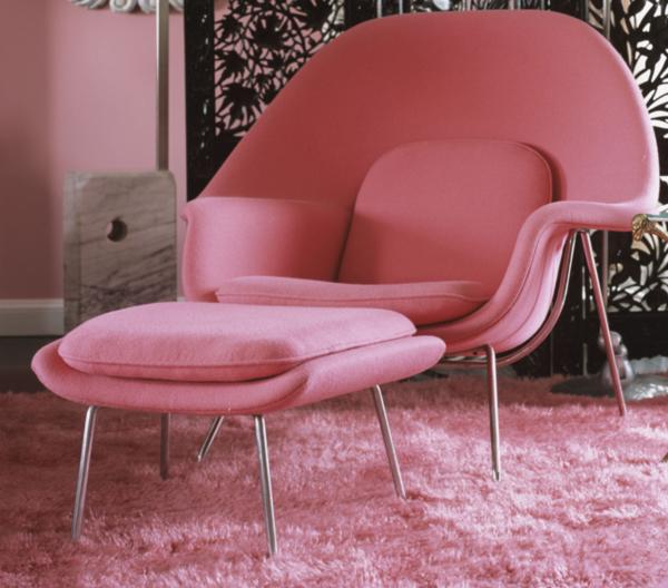 Pink-Womb-Chair by Eero Saarinen