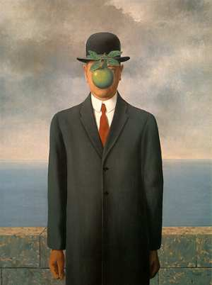 The Son of Man by René François-Ghislain Magritte