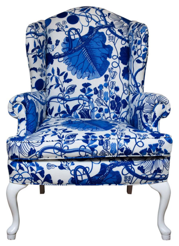 Wingback-upholstered-with-Josef-Frank-textile