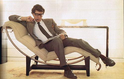 Yves Saint Laurent in a Corbusier Chair
