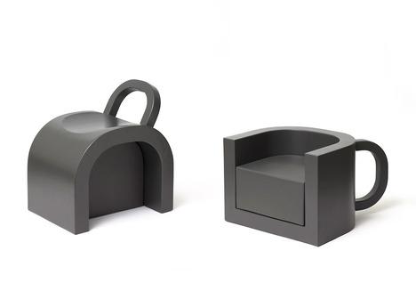 Flip-coffeecup Chair/ Table by Daisuke Motogi