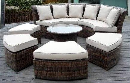 ohana 7 piece round wicker patio