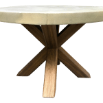 Concrete Acacia Outdoor Dining Table By Pottery Barn Chairish