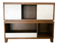 Crate Barrel Mid Century Modern Style Walnut Toy Box And Book Shelf Chairish