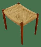 Mid Century Modern Neils Moller Danish Rope Teak Bench Seat Footstool 1960s Chairish