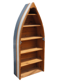 Beans Boats Nautical Cedar Row Boat Bookcase
