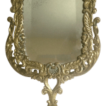 Vintage Mid Century Neoclassical Cast Solid Brass Floral Standing Vanity Mirror Chairish