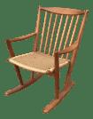 Danish Modern Corded Seat Teak Rocking Chair Chairish