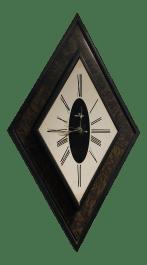 Mid Century Modern Diamond Shaped Waltham Wall Clock Chairish