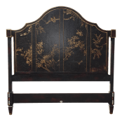 Vintage Chinoiserie Baker Black Queen Headboard Chairish