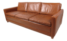 Mid Century Modern Leather Sofa In The Style Of Borge Mogensen
