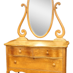 Vintage Birdseye Maple Vanity Dresser By Atlas Furniture Co Chairish