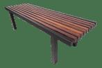 Unique Mid Century Modern Slat Bench Coffee Table