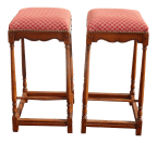 Pair French Country Red Bar Stools Made Italy Out Of Dave Mustaine S Estate 2of2 Chairish